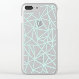 Ab Outline Thick Mint Clear iPhone Case