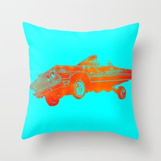 Orange Lowrider Throw Pillow
