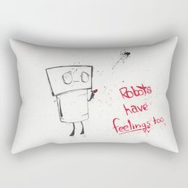 Robots Have Feelings Too Rectangular Pillow