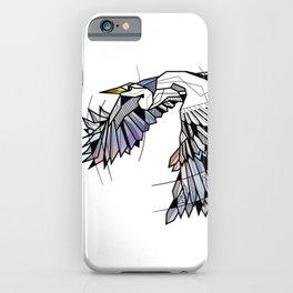 Heron Geometric Bird iPhone Case