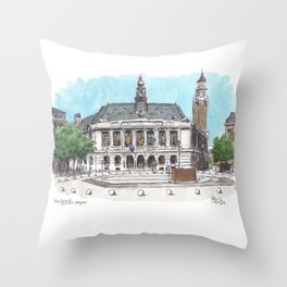Hotel de Ville Charleroi Throw Pillow