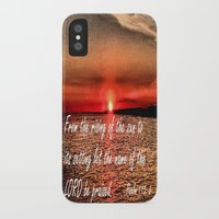 scripture iPhone & iPod Cases featuring Bible Scripture Psalm 113:3 by Saribelle Inspirational Art