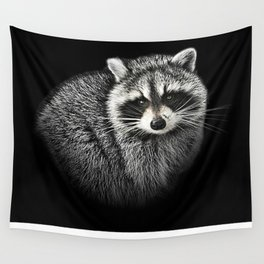A Gentle Raccoon Wall Tapestry