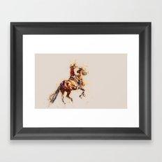 Horse modern art grey Framed Art Print