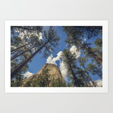 Close Encounters with Devils Tower Art Print