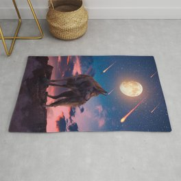 The Lone Wolf Rug