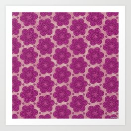 Floral Flower Girly Trendy Boho Pattern Art Print