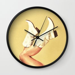 These Boots - Yellow Wall Clock
