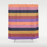pantone Shower Curtains featuring Pantone fall - C by carolinegeys