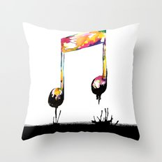 Feelings behind the darkness Throw Pillow