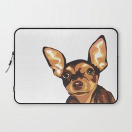 Billie the Miniature Pincher Puppy Laptop Sleeve