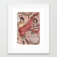 jane eyre Framed Art Prints featuring Jane Eyre. An Autobiography  by Sarah Mary Street