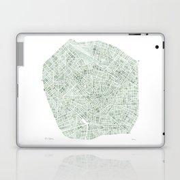 Milan Italy watercolor map Laptop & iPad Skin