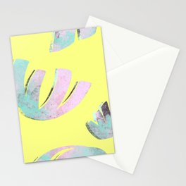 flora pattern no.1 / bright yellow Stationery Cards