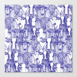 just cattle blue white Canvas Print