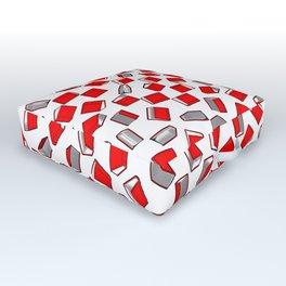 Polka Dot Books Pattern II Outdoor Floor Cushion