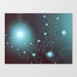 Blue Cosmos Abstract Fractal Art Canvas Print