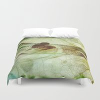 dragonfly Duvet Covers featuring Dragonfly by SpaceFrogDesigns