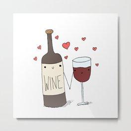 Wine Lovers Metal Print