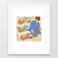 tegan and sara Framed Art Prints featuring Tegan & Sara by M. Duwel