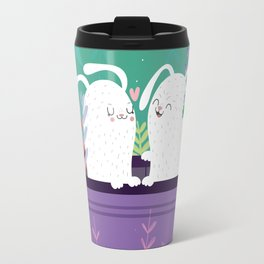 Bunnies in love Travel Mug