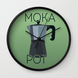 Moka Pot Wall Clock