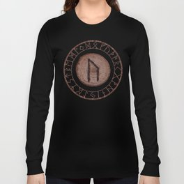 Uruz Elder Futhark Rune determination, persistence, freedom, courage, will, territoriality Long Sleeve T-shirt