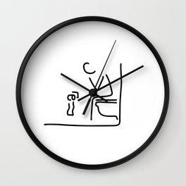 toilet digestion irritant bowel Wall Clock