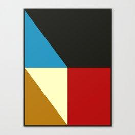 Mid Century Geometric F Canvas Print