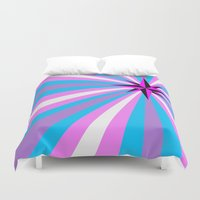 queer Duvet Covers featuring Queer Trans Anarchy Flag by Wolfy