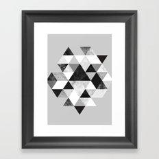 Graphic 202 Black and White Framed Art Print