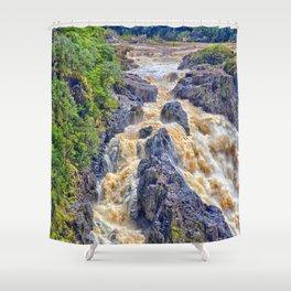 Powerful Barron Falls Shower Curtain
