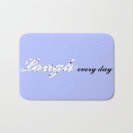 Laugh Every Day (Light Blue) Bath Mat