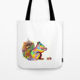 psychedelic squirrel Tote Bag