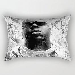 RIP BIGGIE (BLACK & WHITE VERSION) Rectangular Pillow