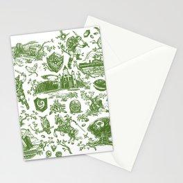 "Zelda ""Hero of Time"" Toile Pattern - Kokiri's Emerald Stationery Cards"