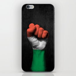 Hungarian Flag on a Raised Clenched Fist iPhone Skin