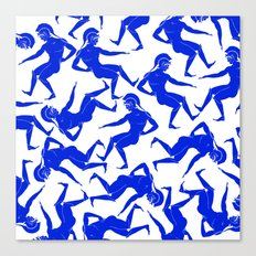 HOPLITES in Blue Canvas Print