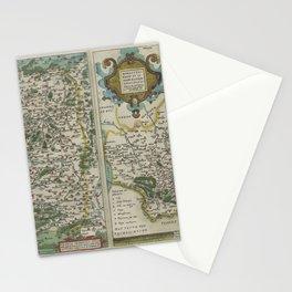 Vintage Map - Ortelius: Theatrum Orbis Terrarum (1606) - Franconia and the Bishopric of Munster Stationery Cards