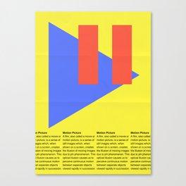 Motion Picture Definition Canvas Print