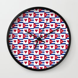 Flag of Cuba 3 -cuban,havana, guevara,che,castro,tropical,central america,spanish,latine Wall Clock