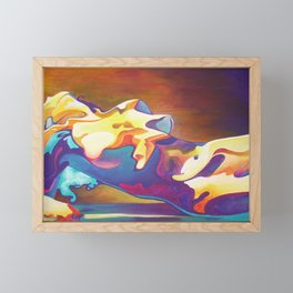 The United Colours of Orgasm Thermal Nude Framed Mini Art Print