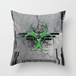 CONTAMINATE/ANNIHILATE II Throw Pillow
