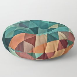 Teal/Orange Triangles Floor Pillow