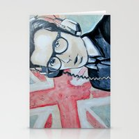 union jack Stationery Cards featuring UNION JACK by Vin Zzep