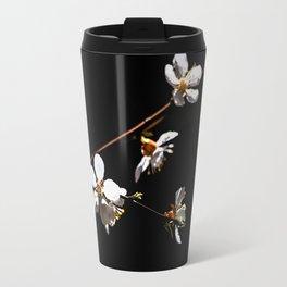 Sakura flowers on black 04 Travel Mug