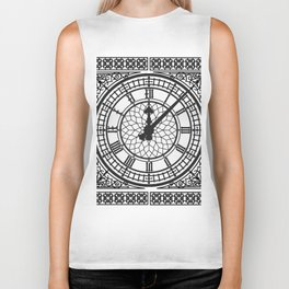 Big Ben, Clock Face, Intricate Vintage Timepiece Watch Biker Tank