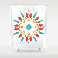 dream catcher Shower Curtains featuring Dream Catcher by ItsJessica