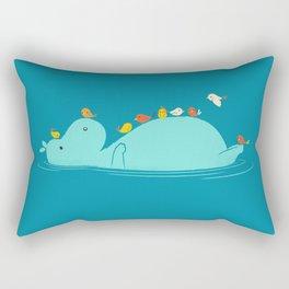 Floating Hippo Rectangular Pillow