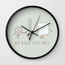 No Hard Feelings Wall Clock